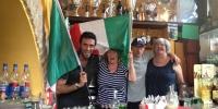 Drinking the flag at the Circolo
