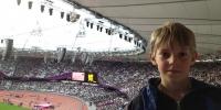 Grandson Milo at London Olympics