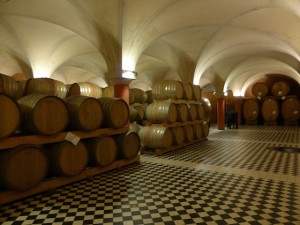 Part of Abbona ageing cellar